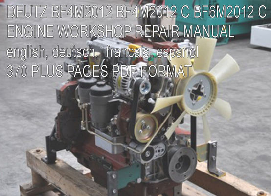 Product picture DEUTZ BF4M2012 BF4M2012 C BF6M2012 C ENGINE SERVICE MANUAL