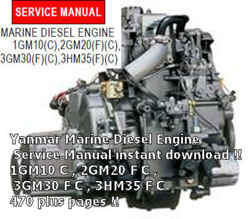 Product picture YANMAR 1GM10 C SERVICE MANUAL DOWNLOAD